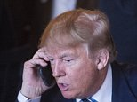 CHARLESTON, SC - FEBRUARY 18: Republican presidential candidate Donald Trump talks talks on the phone while making a stop for lunch between campaign events at Fratello's Italian Tavern in North Charleston, SC on Thursday Feb. 18, 2016. (Photo by Jabin Botsford/The Washington Post via Getty Images)