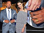 """Jamie Foxx was spotted out in NYC on Wednesday night as he showed his support for Hillary Clinton at the """"I'm with Her"""" Fundraiser at Radio City Music Hall. He flashed a shiny gold band on his ring finger, sparking rumors he was secretly wed. Also attending the event was Diane Von Furstenberg.\n\nPictured: Jamie Foxx\nRef: SPL1239915  020316  \nPicture by: 247PAPS.TV / Splash News\n\nSplash News and Pictures\nLos Angeles: 310-821-2666\nNew York: 212-619-2666\nLondon: 870-934-2666\nphotodesk@splashnews.com\n"""