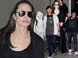 Los Angeles, CA -  Pax Jolie Pitt, Shiloh Jolie Pitt, Angelina Jolie, and Zahara Jolie Pitt were spotted arriving back from a busy time filming in Cambodia for Jolie's new film for Netflix. The troupe looked tired and ready to be home as they walked to the car.\n  \nAKM-GSI       March 2, 2016\nTo License These Photos, Please Contact :\nSteve Ginsburg\n(310) 505-8447\n(323) 423-9397\nsteve@akmgsi.com\nsales@akmgsi.com\nor\nMaria Buda\n(917) 242-1505\nmbuda@akmgsi.com\nginsburgspalyinc@gmail.com