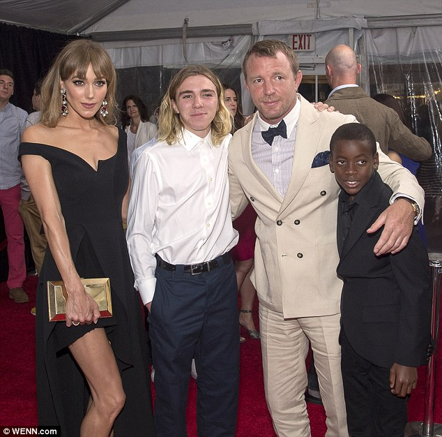 Jacqui Ainsley, Rocco Ritchie, Guy Ritchie and David Ritchie pictured together at the premiere of 'The Man from U.N.C.L.E.' in New York last summer