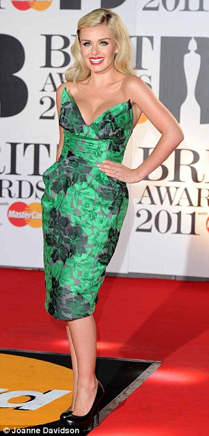 Green goddesses: Katherine Jenkins and Jessie J may be on other sides of the music spectrum, but they both dazzled in gorgeous shades of green tonight