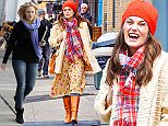 Manhattan, NY - Keira Knightley was spotted filming the upcoming film, Collateral Beauty, with her many famous co-stars. Edward Norton and the actress were seen filming a few scenes out in the streets of the Big Apple. Knightley looked cute and dainty bundled up in Spring prints and bright colors. She seemed happy and excited to be on set with Norton. \n  \nAKM-GSI       March 4, 2016\nTo License These Photos, Please Contact :\nSteve Ginsburg\n(310) 505-8447\n(323) 423-9397\nsteve@akmgsi.com\nsales@akmgsi.com\nor\nMaria Buda\n(917) 242-1505\nmbuda@akmgsi.com\nginsburgspalyinc@gmail.com