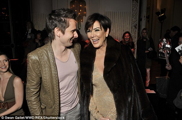 Catching up: Matt shared a laugh with Kris Jenner, whose daughter Kendall walked in the show
