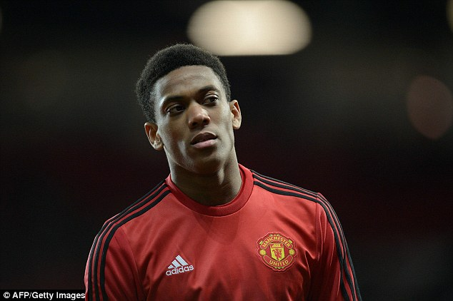 United striker Martial felt a hamstring problem before last week's Europa League clash against Midtjylland