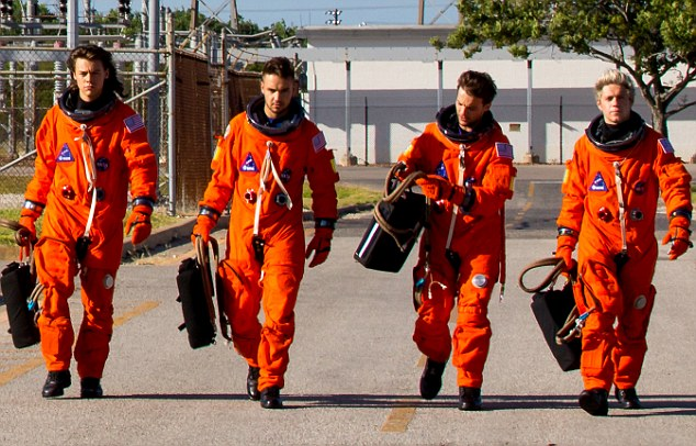 New release: The band only released the video for Drag Me Down on Friday and two days later the split was revealed