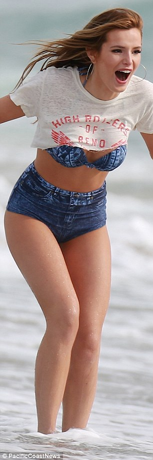 Rearly impressive: She looked in particularly fine form in her blue bra and almost painted-on shorts