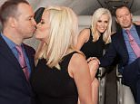 WHEELING, ILLINOIS - MARCH 04: Jenny McCarthy and Donnie Wahlberg join Private Jet app to celebrate the launch of new Chicago routes at Chicago Executive Airport on March 4, 2016 in Wheeling, Illinois.  (Photo by Gabriel Grams/WireImage)