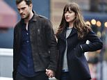 Picture Shows: Jamie Dornan, Dakota Johnson  March 02, 2016    Stars of upcoming 'Fifty Shades of Grey' sequel 'Fifty Shades Darker' are spotted filming on set in Vancouver, Canada.    Non-Exclusive  UK RIGHTS ONLY    Pictures by : FameFlynet UK © 2016  Tel : +44 (0)20 3551 5049  Email : info@fameflynet.uk.com