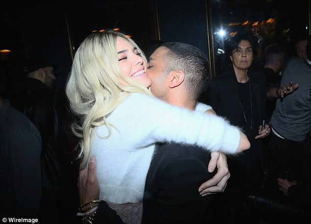 Designer love: Having opened and closed the show, Kendall was delighted to be reunited with creative designer Olivier Rousteing