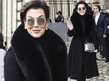PARIS, FRANCE - MARCH 04:  Kris Jenner is seen arriving at Dior fashion show during Paris Fashion Week : Womenswear Fall Winter 2016/2017 on March 4, 2016 in Paris, France.  (Photo by Jacopo Raule/GC Images)