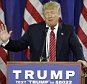 Republican presidential candidate Donald Trump reacts as he speaks during a rally at Wexford County Civic Center, Friday, March 4, 2016, in Cadillac, Mich. (AP Photo/Nam Y. Huh)