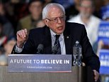 Democratic presidential candidate, Sen. Bernie Sanders, I-Vt., speaks during a rally at Grand Valley State University Field House Arena, Friday, March 4, 2016, in Allendale, Mich. (AP Photo/Nam Y. Huh)