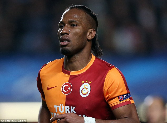 On his way: Didier Drogba has confirmed that he will be leaving Galatasaray