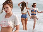 148964, Bella Thorne shows off some underboob in a tiny tee during a beach photoshoot in Malibu. The young starlet splashed around and seemed to be enjoying herself in the water. Malibu, California - Thursday March 3, 2016. Photograph: © PacificCoastNews. Los Angeles Office: +1 310.822.0419 sales@pacificcoastnews.com FEE MUST BE AGREED PRIOR TO USAGE
