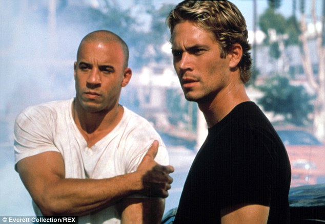 His other half: Vin Diesel on set with Paul Walker. The late actor's mother described him as Diesel's 'other half'