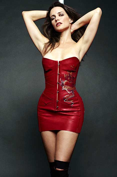 Kristin Davis Sex And The City red PVC dress