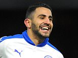 Barclays Premier League. Watford v Leicester City 05/03/16: Picture Kevin Quigley/Daily Mail Riyad Mahrez scores 1-0