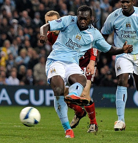 Former glories: Caicedo failed to live up to the hype following his move to Eastlands
