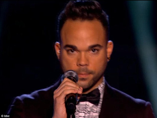 Serious moment: Nate James has previously performed on Jools Holland and decided to go on The Voice after seeing the show last year