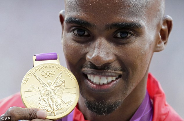 Looking good for another: Farah is hoping to win the 5,000m crown too