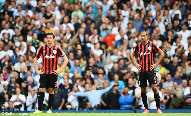 Thinking of you: Joey Barton (left) was one of many Rangers players who expressed sympathy for Faurlin