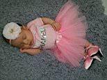 Long day for my sleeping beauty. ... Shoes- @peeweepumps Tutu set- @bowtiesandtutusboutique