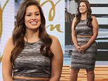 """New York, NY - Sports Illustrated Cover model Ashley Graham joins host Robin Roberts on Good Morning America to promote her """"Beyond"""" clothing line with Dressbarn. \n  \nAKM-GSI       March 4, 2016\nTo License These Photos, Please Contact :\nSteve Ginsburg\n(310) 505-8447\n(323) 423-9397\nsteve@akmgsi.com\nsales@akmgsi.com\nor\nMaria Buda\n(917) 242-1505\nmbuda@akmgsi.com\nginsburgspalyinc@gmail.com"""
