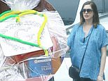 Exclusive... 51988680 Celebrities attend pregnant Anne Hathaway's baby shower in Hollywood, California on March 5, 2016.  Camila Alves was spotted carrying a gift with a big 'G' on it. Perhaps that could be hinting at the gender? ***NO WEB USE W/O PRIOR AGREEMENT - CALL FOR PRICING*** FameFlynet, Inc - Beverly Hills, CA, USA - +1 (310) 505-9876