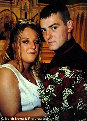 Devastated: Lorna Roney arrives at the inquest in Sunderland earlier this week into the death of her husband Lance Corporal Christopher Roney