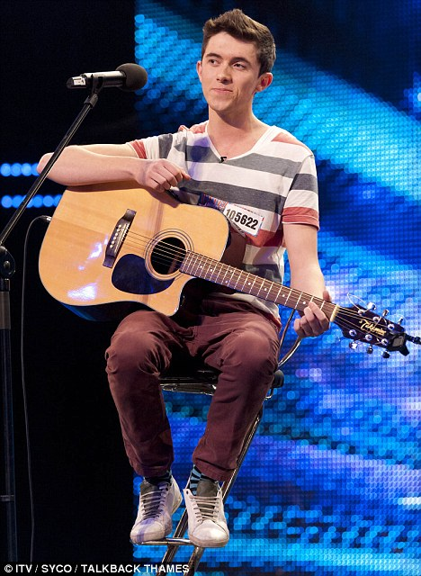 Hit: Ryan O'Shaughnessy wowed BGT judges with his performance on Saturday