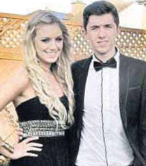Emotional: Ryan O'Shaughnessy left his Britain's Got Talent audience in tears with a love song about a mystery woman revealed as Katie Lucia Keegan, left