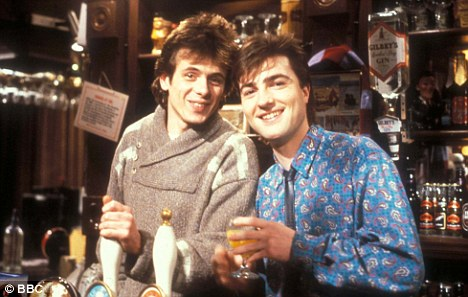 Old favourite: Berry as Wicksy with Tom Watt as Lofty in a 1987 scene from EastEnders