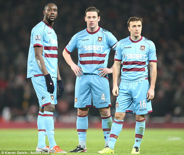 Staying up?: For West Ham, Premier League survival is crucial