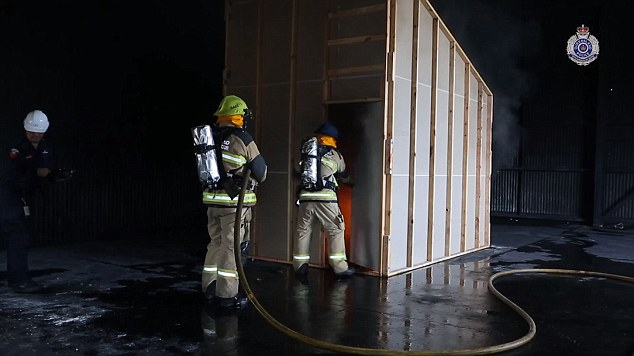 This is a Queensland Fire and Rescue re-enactment of the fire which nearly claimed the lives of two children