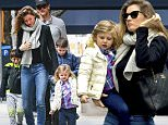 \nEXCLUSIVE: Gisele Bundchen and Tom Brady take their kids Jack, Benjamin and Vivian to lunch at Sant Ambroeus on Madison Avenue in New York City. Gisele also passed by Gagossian Gallery and Nelly Hamad Gallery at the Carlyle Hotel and met up with Tom, who spent time with Jack and Benjamin playing soccer and lazer tag.\nPlease byline:TheImageDirect.com\n