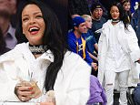 LOS ANGELES, CA - MARCH 06:  Rihanna attends a basketball game between the Golden State Warriors and the Los Angeles Lakers at Staples Center on March 6, 2016 in Los Angeles, California.  (Photo by Noel Vasquez/GC Images)