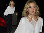 LONDON, ENGLAND - MARCH 05:  Kate Hudson leaves Sexy Fish restaurant in Mayfair on March 5, 2016 in London, England.  (Photo by Keith Hewitt/GC Images)