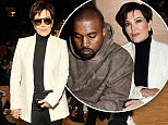Mandatory Credit: Photo by Swan Gallet/WWD/REX/Shutterstock (5609995al)\nKris Jenner in the front row\nGivenchy show, Autumn Winter 2016, Paris Fashion Week, France - 06 Mar 2016\n