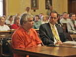 """FILE - In this June 1, 2007 file photo, Steven Avery, left, appears during his sentencing as his attorney Jerome Buting listens at the Manitowoc County Courthouse in Manitowoc, Wis  Avery was convicted of murdering photographer Teresa Halbach in 2005 and was sentenced to life in prison with no chance for parole. Buting has a deal with HarperCollins Publishers for a book being released next year. The book will be released through the Harper imprint. The case was the subject of the Netflix series, """"Making A Murderer."""" (Dan Powers/The Post-Crescent via AP, File)"""