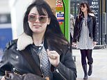 EXCLUSIVE: Daisy Lowe runs out of her house to a taxi and heads to Paddington train station. She buys a drink before catching a train heading to Bristol.  Pictured: daisy lowe Ref: SPL1241757  060316   EXCLUSIVE Picture by: Splash News  Splash News and Pictures Los Angeles: 310-821-2666 New York: 212-619-2666 London: 870-934-2666 photodesk@splashnews.com