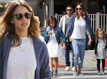 Jessica Alba and her hubby Cash Warren visit Bristol Farms in Beverly Hills with their two daughters to stock up on groceries on a sunny Sunday morning in Los Angeles. Sunday, March 6, 2016 X17online.com