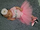 Long day for my sleeping beauty. ... Shoes- @peeweepumps Tutu set- @bowtiesandtutusboutique