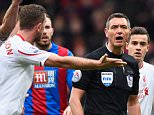 LONDON, ENGLAND - MARCH 06:  Liverpool players appeal for a penalty to referee Andre Marriner during the Barclays Premier League match between Crystal Palace and Liverpool at Selhurst Park on March 6, 2016 in London, England.  (Photo by Mike Hewitt/Getty Images)
