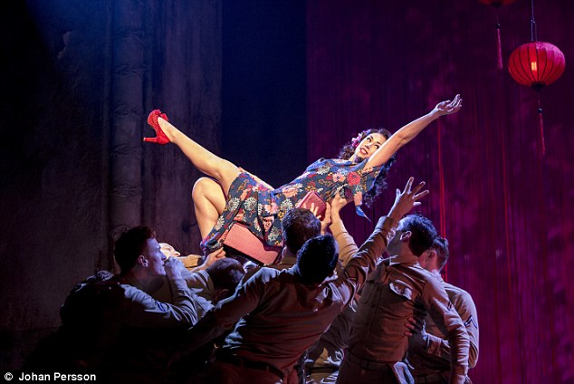 Having the last laugh: Siubhan Harrison pictured as Lorene in the production of From Here to Eternity