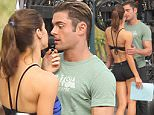 Picture Shows: Alexandra Daddario, Zac Efron  March 05, 2016\n \n Celebrities are spotted on the set of 'Baywatch' in Miami, Florida.\n \n Non Exclusive\n UK RIGHTS ONLY\n \n Pictures by : FameFlynet UK � 2016\n Tel : +44 (0)20 3551 5049\n Email : info@fameflynet.uk.com