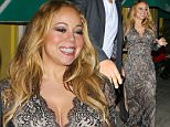 4.MAR.2016 - HOLLYWOOD - USA\n*** STRICTLY AVAILABLE FOR UK AND GERMANY USE ONLY ***\n** EXCLUSIVE ALL ROUND PICTURES **\nMariah Carey shares her contagious smile with our cameraman as she exits Dan Tana's after a night out with her girlfriends. Carey wore a patterned sheer dress with black Christian Louboutin pumps.\nBYLINE MUST READ : AKM-GSI-XPOSURE\n***UK CLIENTS - PICTURES CONTAINING CHILDREN PLEASE PIXELATE FACE PRIOR TO PUBLICATION ***\n*UK CLIENTS MUST CALL PRIOR TO TV OR ONLINE USAGE PLEASE TELEPHONE 0208 344 2007*\n