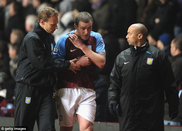 Richard Dunne of Aston Villa