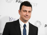 """FILE - In this March 8, 2015, file photo, Jimmy Kimmel arrives at the 32nd Annual Paleyfest : """"Scandal"""" held at The Dolby Theatre in Los Angeles. Kimmel will host this year¿s Emmy Awards broadcast. ABC announced Monday, March 7, 2016, that Kimmel, host of that network¿s late-night  ¿Jimmy Kimmel Live,¿ will return for the 68th Primetime Emmy Awards, which airs Sept. 18. (Photo by Richard Shotwell/Invision/AP, File)"""