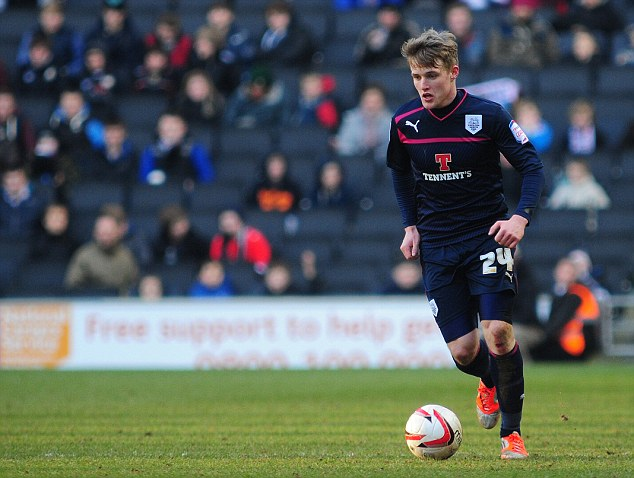 Dream start: Westley was pleased to see Will Hayhurst score his first goal of his career