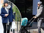 March 6, 2016: Actress Rose Byrne and husband Bobby Cannavale out in the East Village in New York City with their son Rocco.\nMandatory Credit: Zelig Shaul/ACE/INFphoto.com\nRef: infusny-220